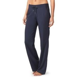 ATHLETA Navy Midtown Trouser Drawstring Pant